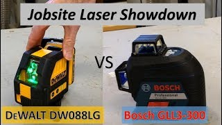 Laser Showdown DeWalt vs Bosch