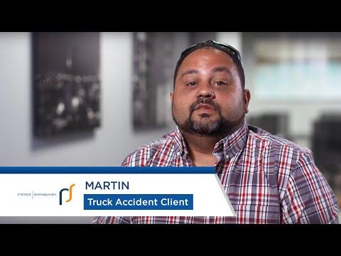 Truck Accident Attorneys Pierce Skrabanek   Truck Accident Survivor Martin