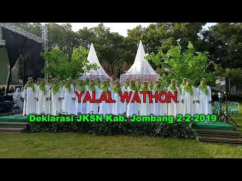 YALAL WATHON, PC Fatayat Jombang Pada Deklarasi JKSN Kab Jombang 2-2-2019