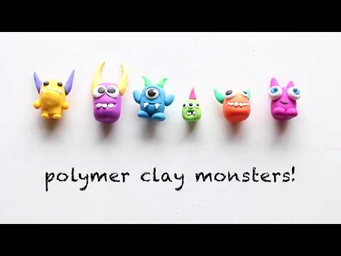 Polymer Clay Monsters With Sculpey Eraser Clay Youtube