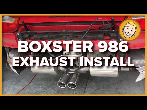 How to INSTALL AN EXHAUST on a 1998 Porsche Boxster 986 (Project 46)