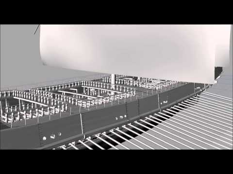 CAD view of the Venetian Galeazza