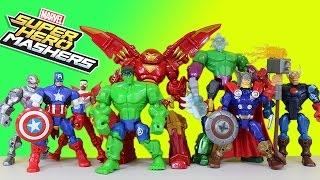 The BEST Marvel Super Hero Masher Adventures! Captain America Hulkbuster Thor