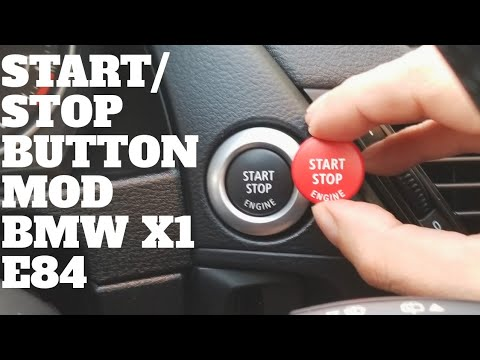 DIY Replacing The Start Stop Button Mod On A BMW X1 (Simple and Easy)