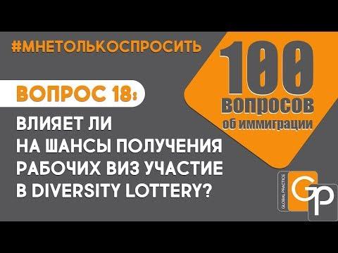 #МнеТолькоСпросить Вопрос 18: Влияет ли участие в лотерее на шансы получить рабочую визу?
