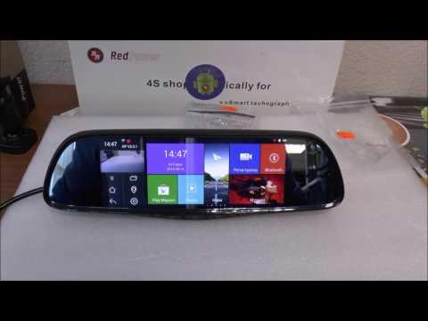 Зеркало заднего вида с монитором, регистратором RedPower AMD65 Android