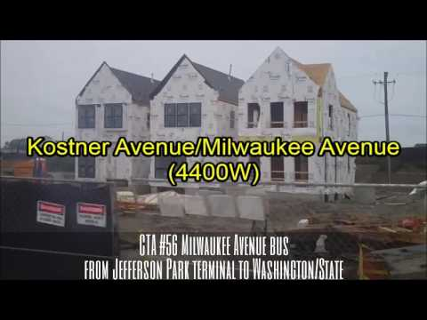 CTA #56 Milwaukee Avenue bus from Jefferson Park terminal to Washington/State (06-15-16)