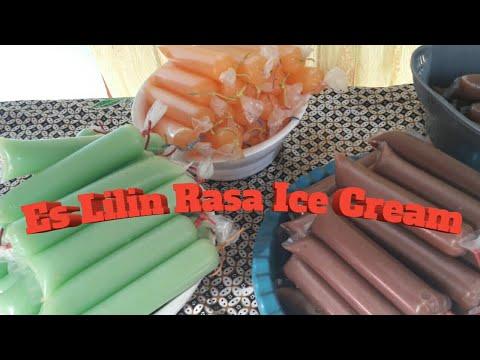 Cara Membuat Es Lilin Lembut Rasa ice Cream