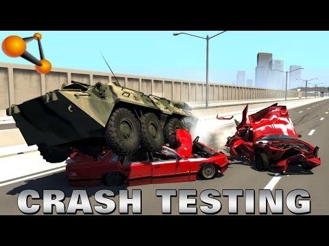 BeamNG.drive - Armoured Transporter BTR 80 Crash Testing