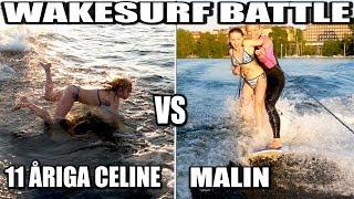 WAKESURF BATTLE 11 ÅRIGA CELINE VS MALIN