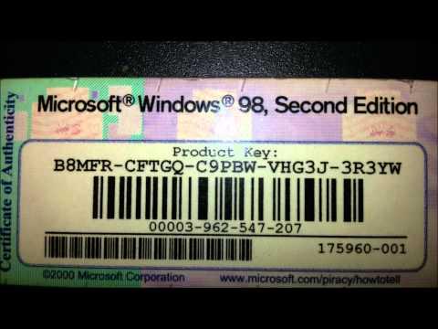 Windows 98, Second Edition Key