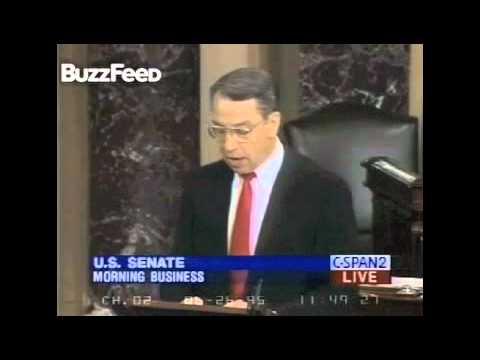 Republican Senator Chuck Grassley Giving A Speech On Internet Porn in 1995