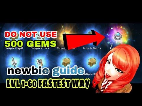 Avabel Lupinus Newbie Guide   1-60 Grind   500 Gems
