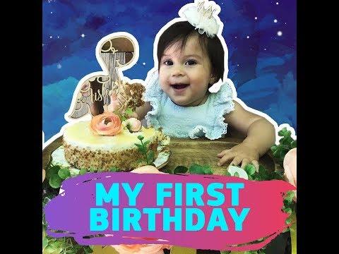 My first birthday   KAMI    Jewel Mische's mini me Aislah Rose had a very joyous celebration