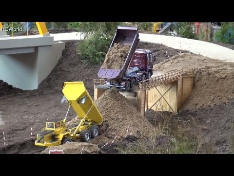 RC Construction Site Bridge Building Dozer Baustelle LKW ♦ T