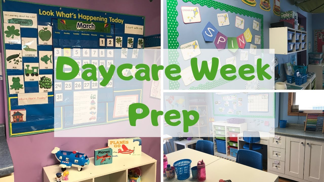 Home Daycare Weekly Prep Youtube