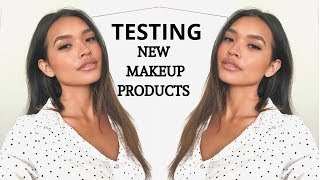 FULL FACE OF NEW MAKEUP! BAREMINERALS, HOURGLASS, EMCOSMETICS + MORE! || NICOLE ELISE