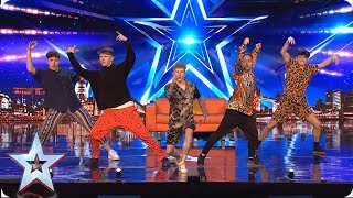 High Five attempt to impress the fearsome four! | Auditions | BGMT 2019