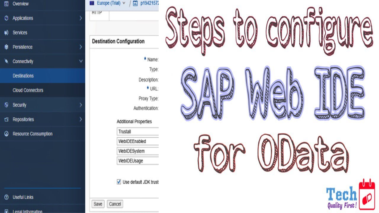 Configure SAP Web IDE for OData Service - TechTablet - Varun Rao