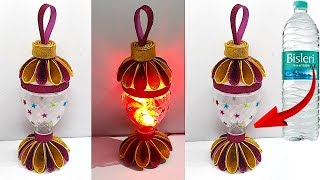 How to make Lantern/Tealight Holder from Waste plastic bottle | DIY Home Decorations Idea