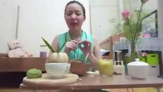 Dạy cách làm bánh trung thu từ bột khoai lang tím
