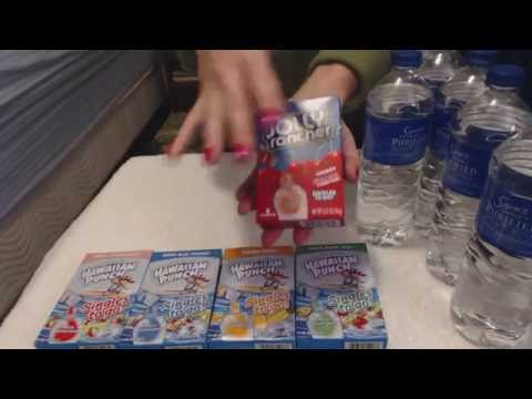 ASMR Whisper ~ Adding Drink Mixes to Water ~ Southern Accent