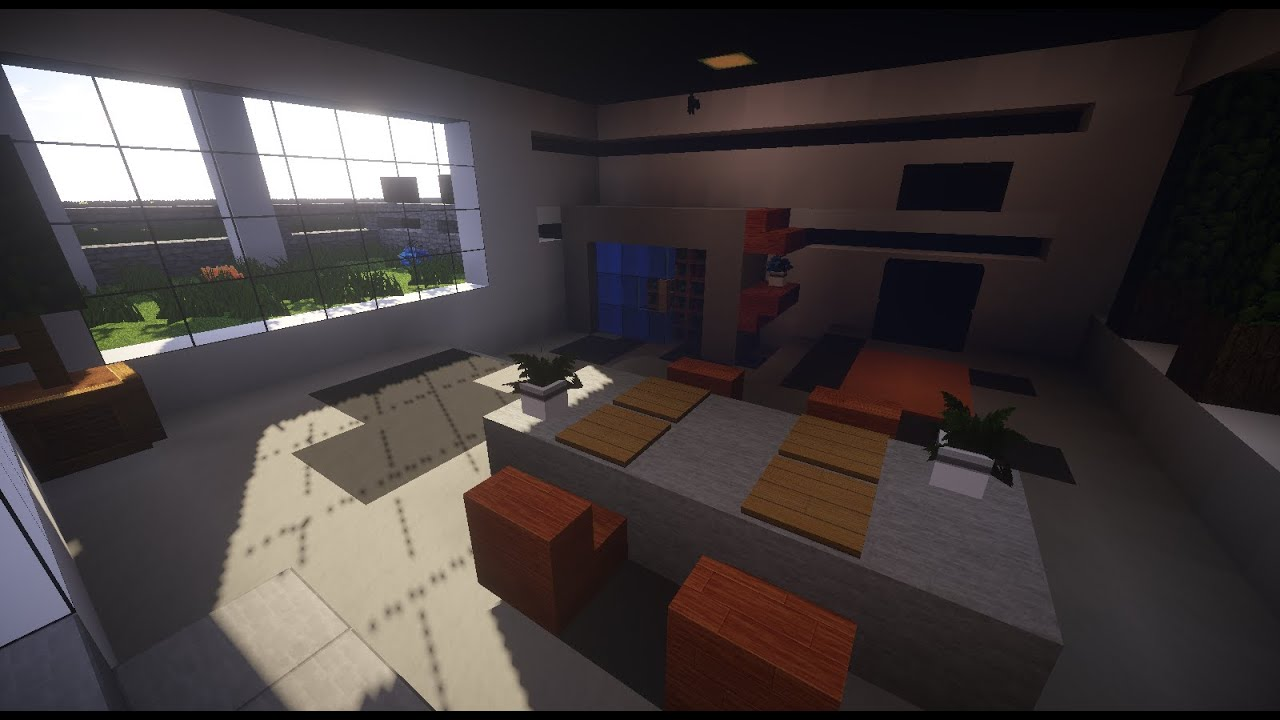 Tuto salle manger moderne sur minecraft youtube for Table moderne salle a manger