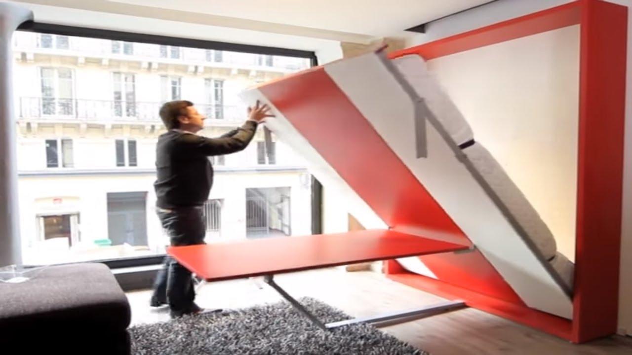 armoire lit escamotable ulysse dinning bimodal par la maison du convertible youtube. Black Bedroom Furniture Sets. Home Design Ideas