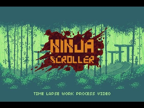 Ninja Scroller Pixel Art Pack