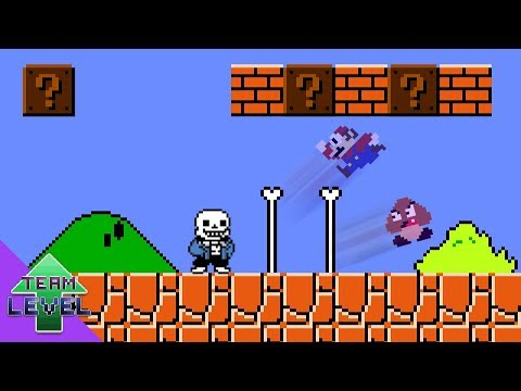 Sans would be OP in Super Mario Bros.