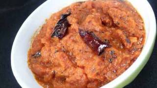 Tomato & Onion Chutney (for South Indian Cuisine) Indian Recipe