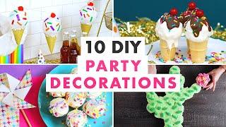 Party Decor DIYs -- Party Balloons, Unicorn Party Decorations & More