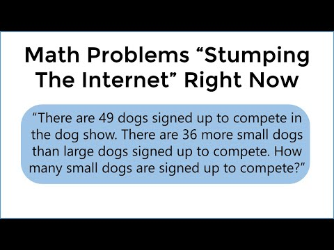 Two Grade School Math Questions Stumping Adults Worldwide Right Now