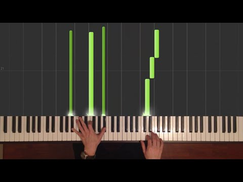 Gravity Falls - Theme song - Easy Piano tutorial - How to Play (Synthesia)