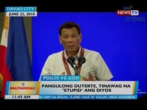 Pangulong Duterte, tinawag na 'stupid' ang Diyos