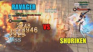 RAVAGER VS SHURIKEN LV.85+ | SABER VS EXTASÉ | Aura Kingdom PvP