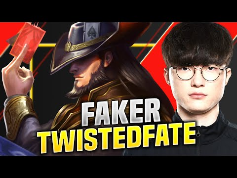 Faker Perfect Game with Twisted Fate! - SKT T1 Faker Playing Twisted Fate Mid vs Pantheon! | SoloQ