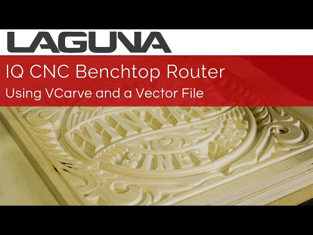 CNC Router DEMO: How to Use VCarve With A Vector File | IQ CNC Router Quick Cut