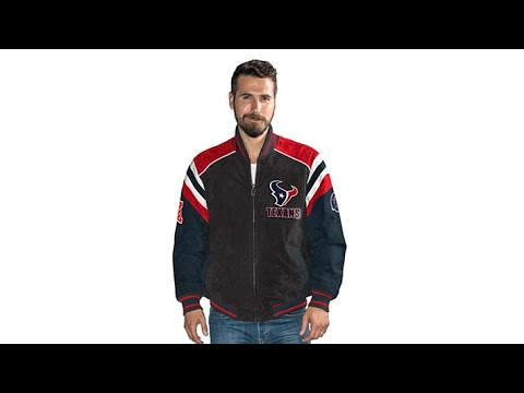 Officially Licensed NFL Men's Suede Jacket by Glll