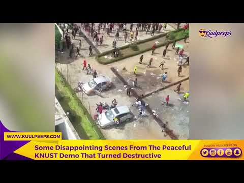KNUST:Some Disappointing Scenes From The Peaceful KNUST Demo That Turned Destructive