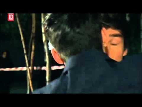 Zayn Malik kissing Liam Payne