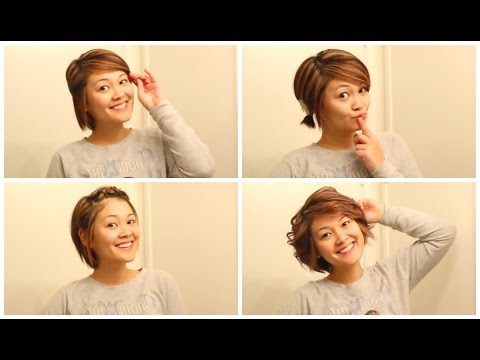Easy Hairstyles When Growing Out Your Hair Youtube