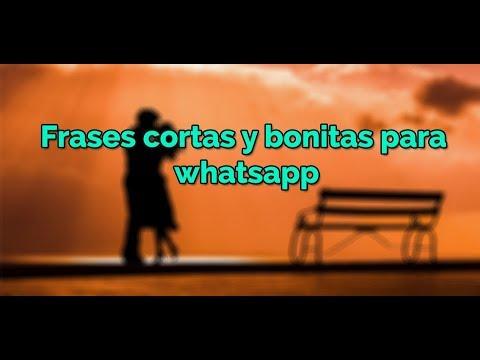 15 Frases Cortas Y Bonitas Para Whatsapp Frases De Amor Para