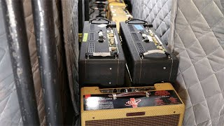 The Edge's Room of Amps
