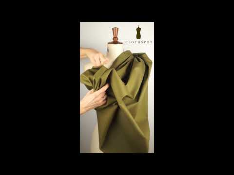 'Balmoral' olive green stretch cotton twill fabric