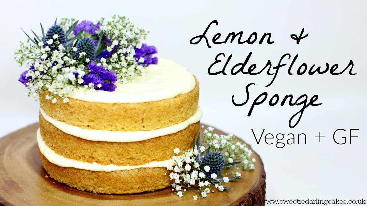 Vegan Lemon and Elderflower Cake Recipe YouTube