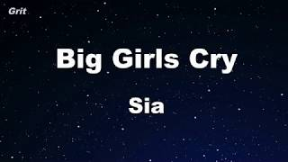 Big Girls Cry - Sia Karaoke 【No Guide Melody】 Instrumental