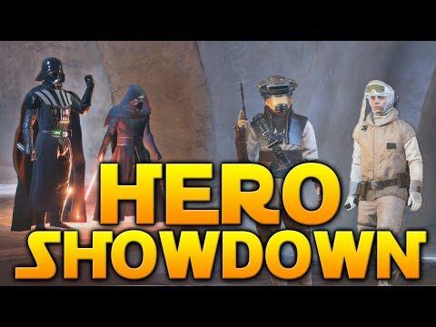HERO SHOWDOWN IN JABBAS PALACE - Star Wars Battlefront 2 (Boushh Leia & Skiff Lando)