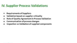 Process Validation for Drugs and Biologics