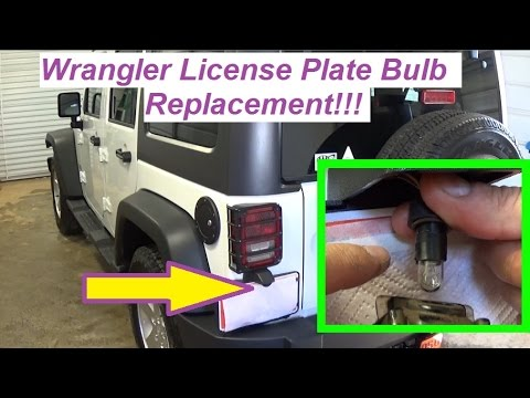 Jeep Wrangler License Plate Light Tag Light Replacement